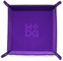 Load image into Gallery viewer, Purple square velvet dice tray.