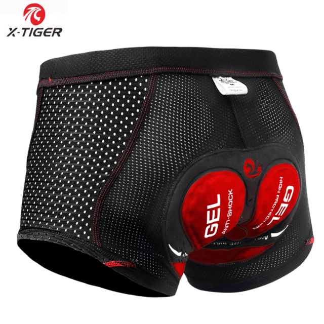 X-Tiger 2020 Upgrade Cycling Shorts Cycling Underwear Pro 5D Gel Pad Shockproof Cycling Underpant Bicycle Shorts Bike Underwear - AthleisuRE