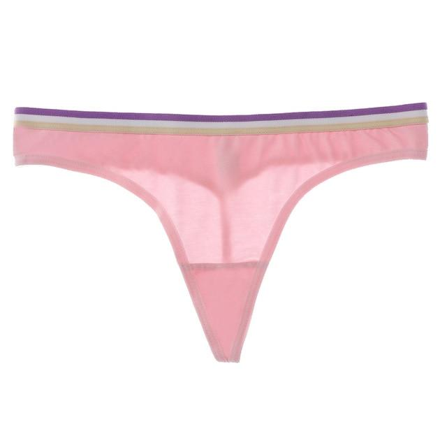 Sporty Style Cotton Thongs Panties - AthleisuRE