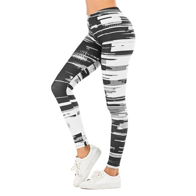 Women Legging leaf Printing Fitness Slim High Waist Leggings - AthleisuRE
