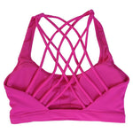 Load image into Gallery viewer, Fitness Sports Bra for Women Push Up Solid Cross Back - AthleisuRE
