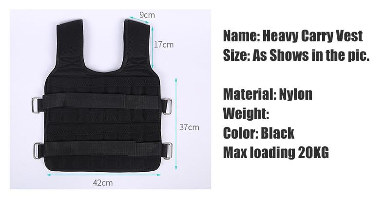 30KG Loading Weight Vest - AthleisuRE