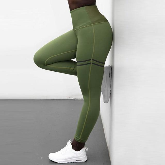 NORMOV Women Gold Print Leggings No Transparent Exercise Fitness Leggings Push Up Workout Female Pants - AthleisuRE