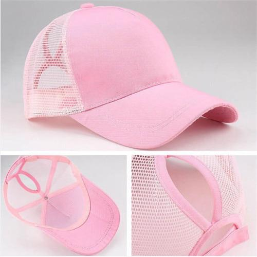 Women Baseball Cap Snapback Adjustable Ponytail - AthleisuRE