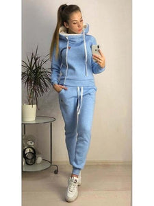 Two Piece Set Tracksuit Hoodie For Women Fleece - AthleisuRE