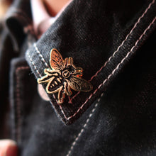 Load image into Gallery viewer, Jimmy's Manchester Bee Pin
