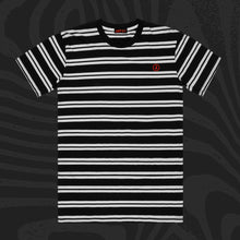 Load image into Gallery viewer, Jimmy's Bolt Embroidered Striped T-Shirt
