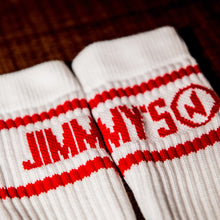 Load image into Gallery viewer, Jimmy's Socks (White/Red)