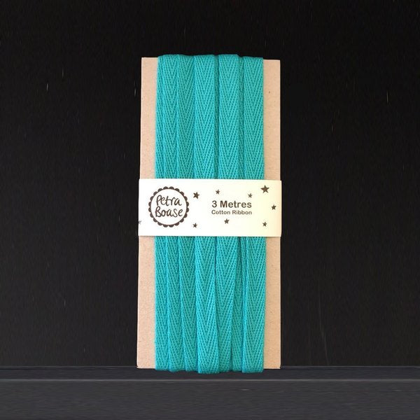 3M Cotton Herringbone Ribbon - Aqua