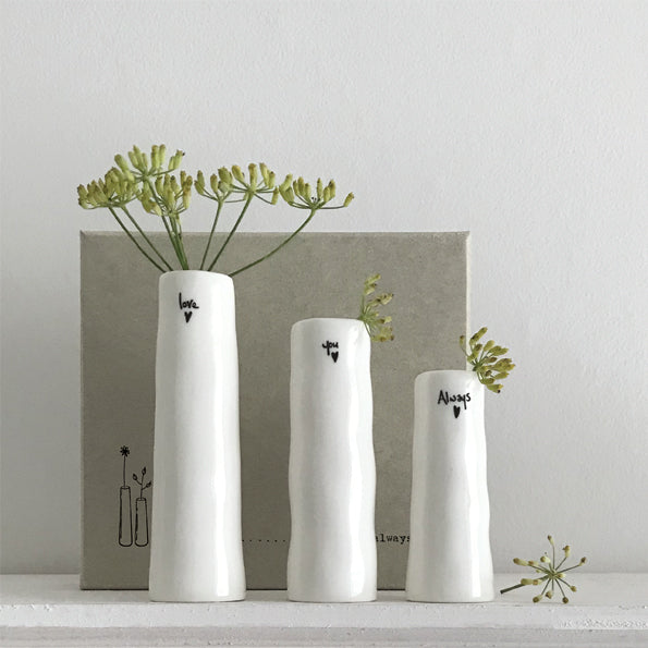 Trio Of Vases In A Box - Love You Always