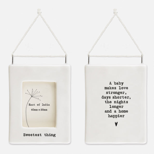 Mini Porcelain Hanging Frame - Sweetest Thing