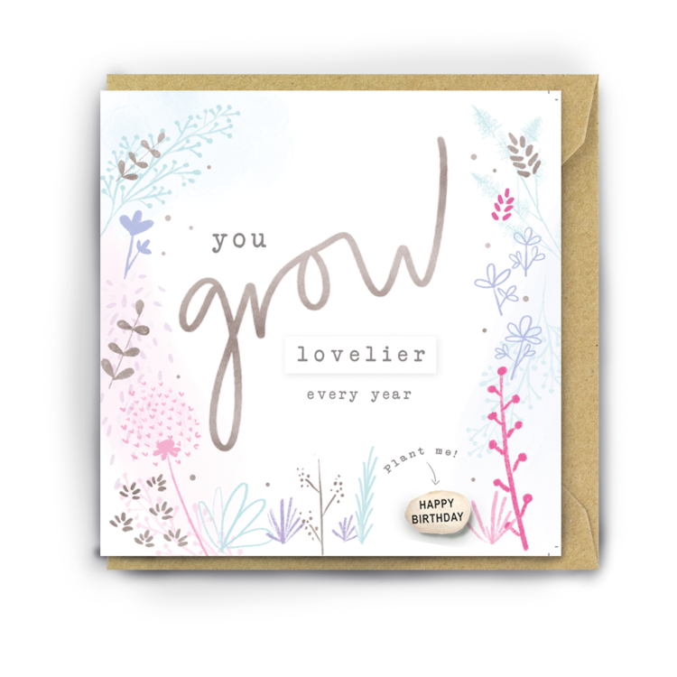 You Grow Lovelier - With Plantable Bean