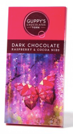 Dark Chocolate With Raspberry & Cocoa Nibs