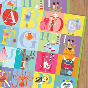 Alphabet Wrapping Paper - Price Per Sheet