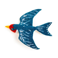 Load image into Gallery viewer, Flying Swallow Trio - Wall Hanging Felt Birds