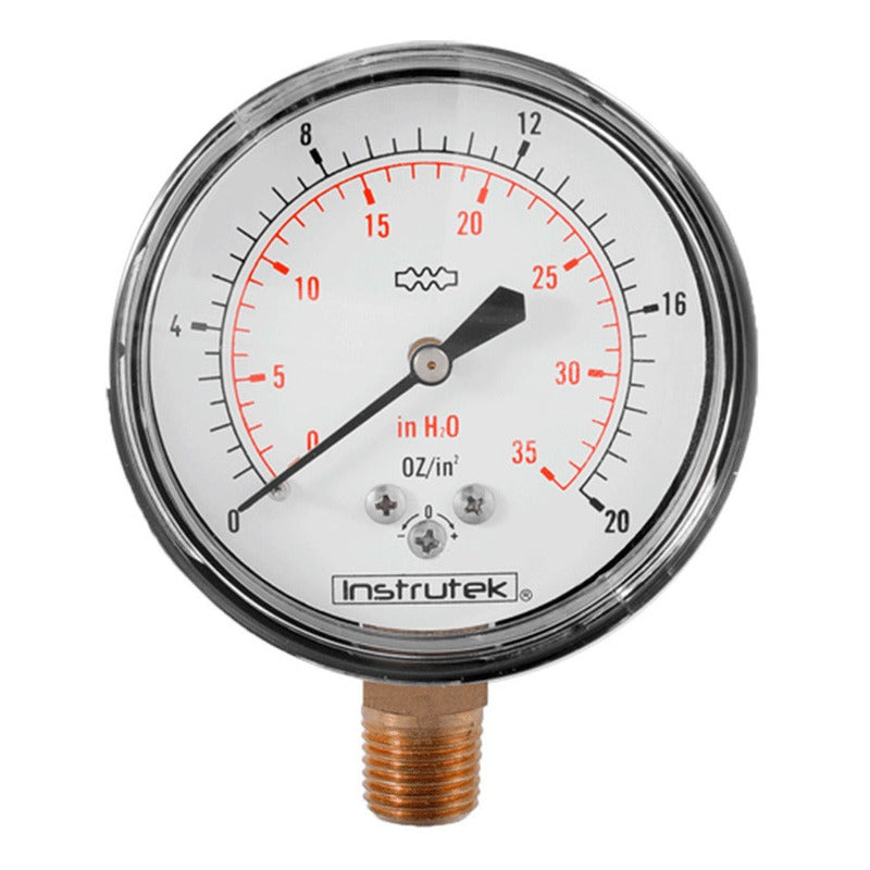 Pressure Gauge 20 Oz / 35 Inh2o For Low Pressure Lp & Nat Gas
