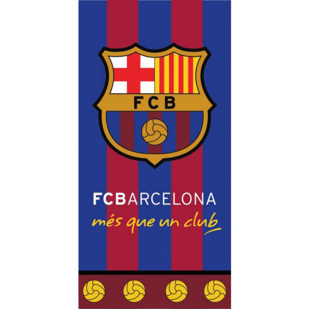 BARCELONA FC CLUB LOGO COTTON TOWEL