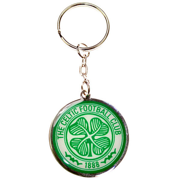 CELTIC FOOTBALL CLUB CREST METAL KEYRING