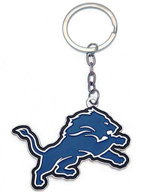 NFL DETRIOT LIONS CLUB CREST METAL KEY RING