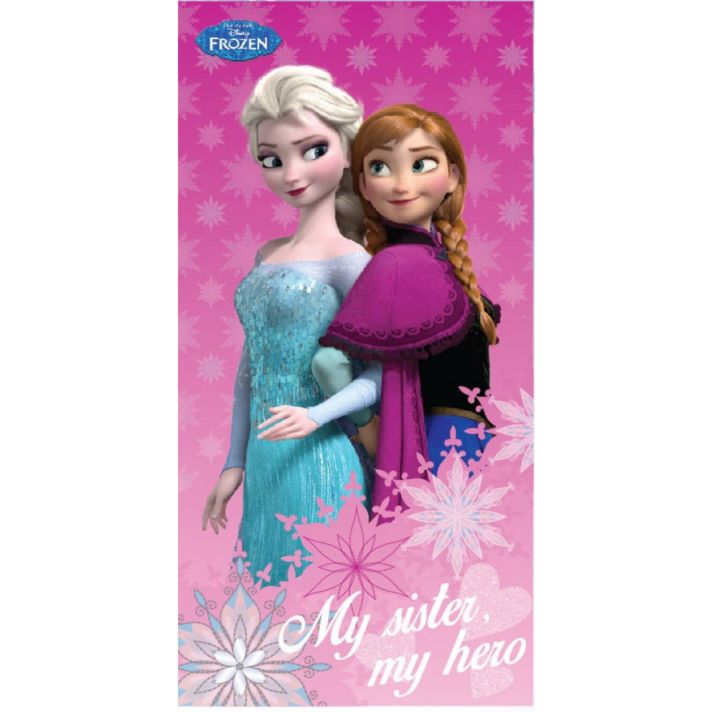 DISNEY FROZEN PRINCESS ELSA AND ANNA BATH BEACH TOWEL - 100% COTTON