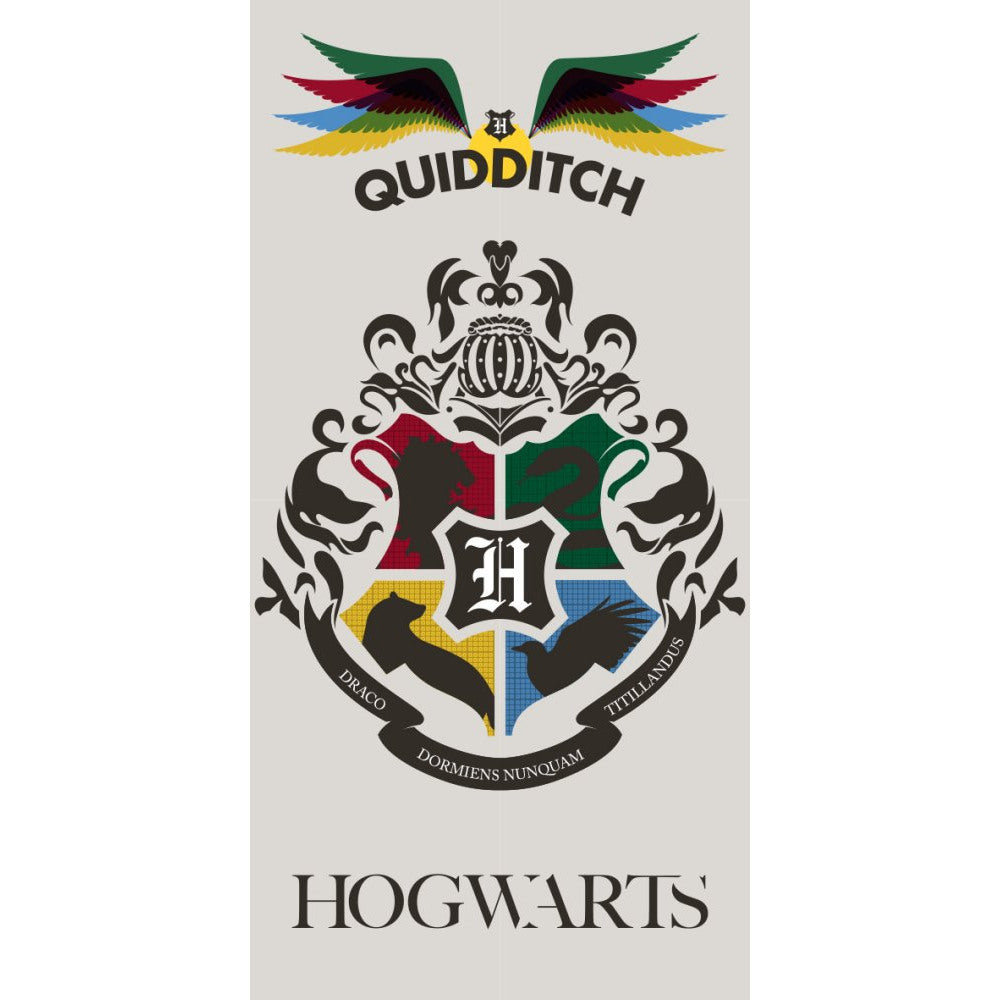 HARRY POTTER 100% COTTON HOGWARTS COAT OF ARMS BATH BEACH TOWEL -