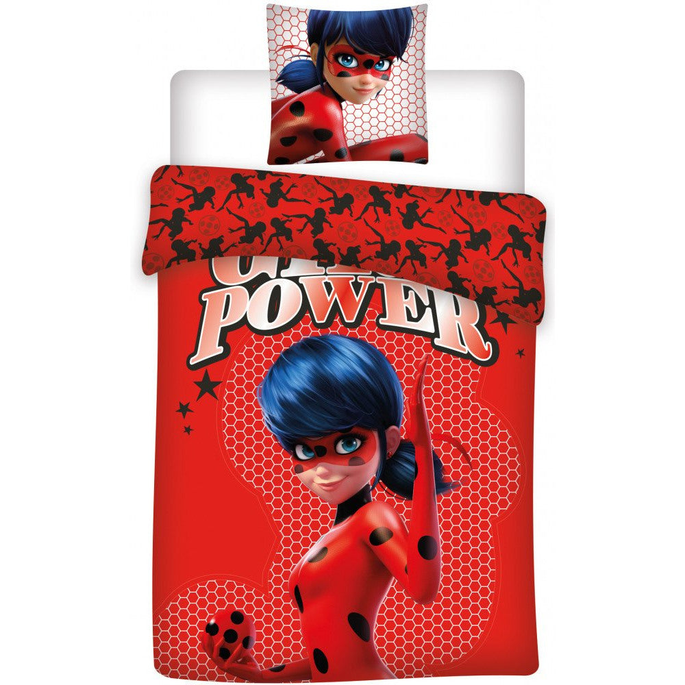 MIRACULOUS LADYBUG 'GIRL POWER' Single Duvet Cover Set 100% COTTON 140 x 200 cm