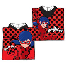 Load image into Gallery viewer, MIRACULOUS LADYBUG BATH BEACH TOWEL/PONCHO