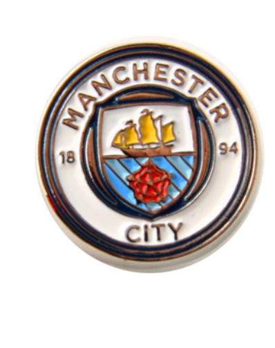 MANCHESTER CITY FOOTBALL CLUB CLUB CREST PIN BADGE