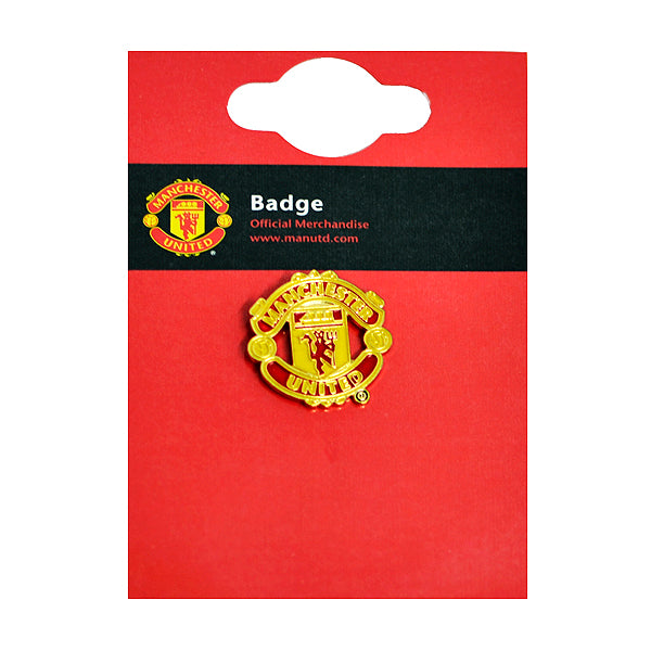 Manchester United Football Club Crest Metal Pin Badge - Red Devil