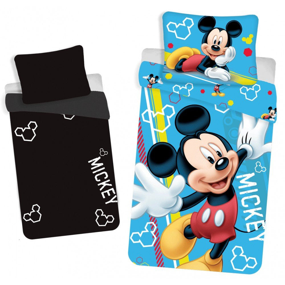 DISNEY MICKET MOUSE REVERSIBLE GLOW IN DARK SINGLE DUVET COVER SET