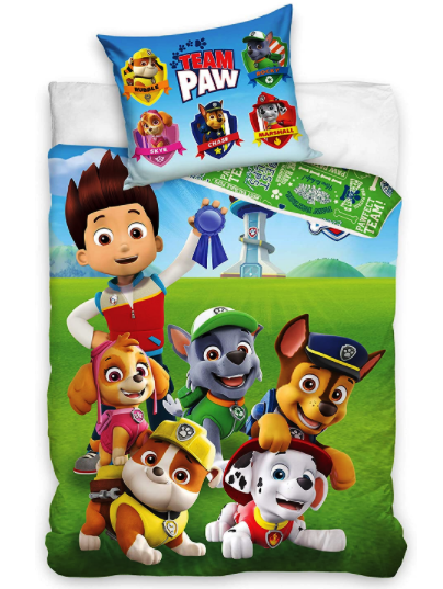 PAW PATROL 100%  COTTON SINGLE DUVET COVER SET