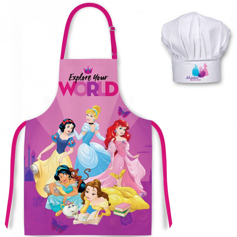 DISNEY PRINCESS APRON AND CHEFS HAT