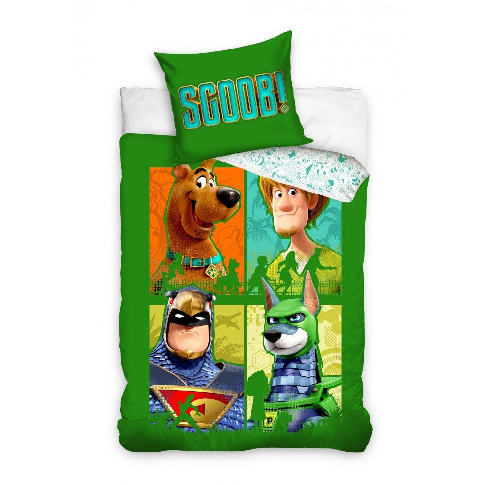 SCOOBY-DOO SINGLE DUVET COVER SET - 100% COTTON