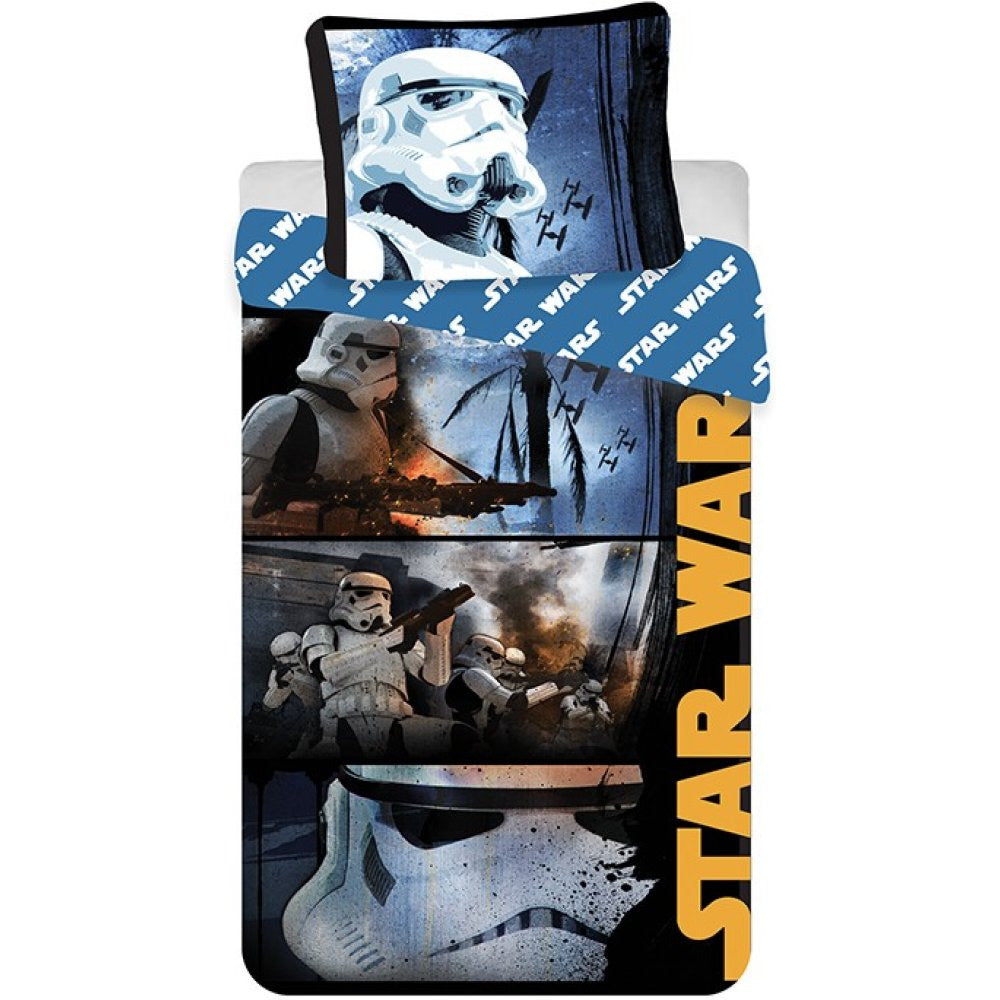 DISNEY STAR WARS ROGUE 1 SINGLE DUVET COVER SET- 100% COTTON