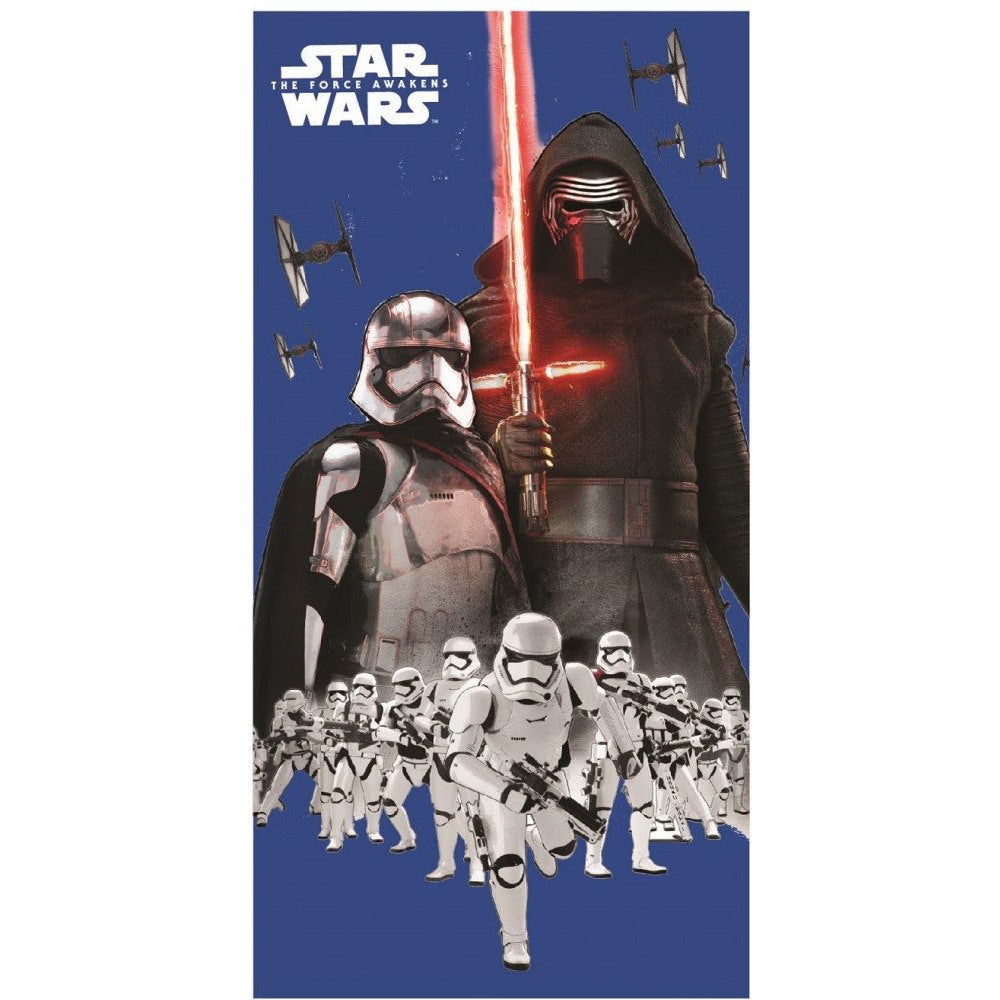 DISNEY STAR WARS 100% COTTON BATH BEACH TOWEL - KYLO REN, THE FORCE AWAKENS