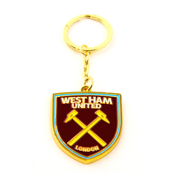 WEST HAM UNITED FOOTBALL CLUB CREST METAL KEYRING