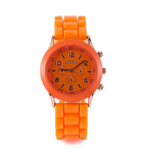 Ceas dama Geneva Seasons orange