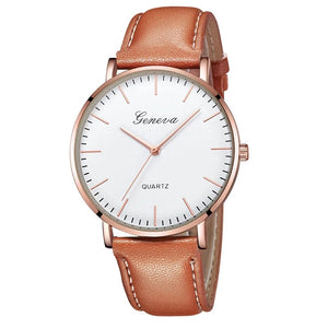 Ceas barbatesc Geneva Delight maro, rose gold