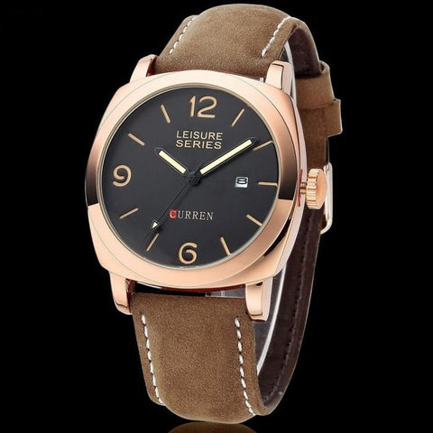 Image of Ceas barbatesc Curren Leisure Series rose gold