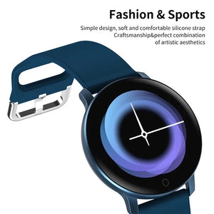Smartwatch S531 Bluetooth, IP67, Fitness Tracker, Monitorizare ritm cardiac, Compatibilitate Android si iOS, albastru