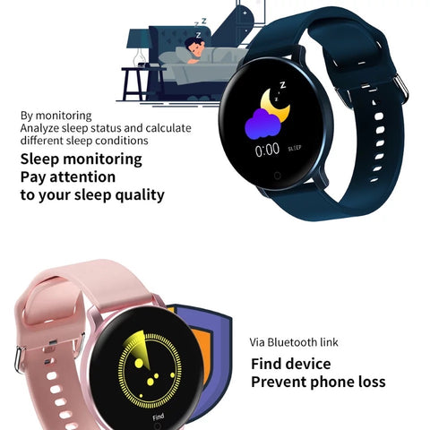 Image of Smartwatch S531 Bluetooth, IP67, Fitness Tracker, Monitorizare ritm cardiac, Compatibilitate Android si iOS, albastru