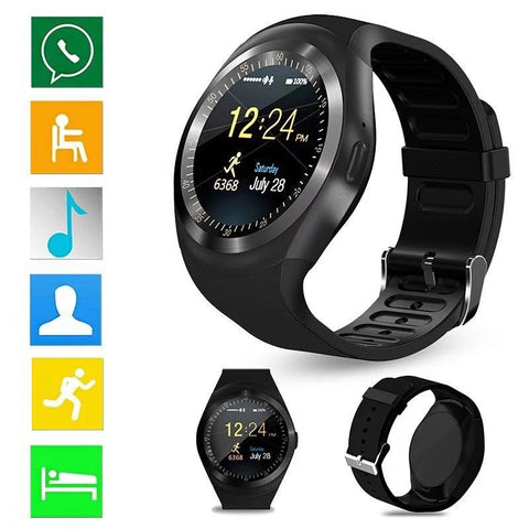 Smartwatch S562 Ecran Touchscreen, Bluetooth, SIM Notificari, Pedometru, Monitorizare somn, negru