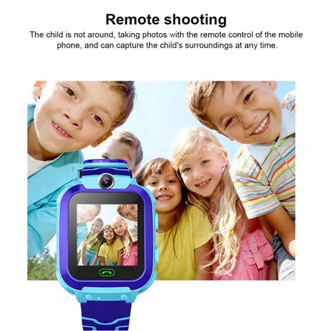 Smartwatch Copii S568, SIM, Monitorizare Locatie, Intercom, SOS, Camera, Microfon albastru