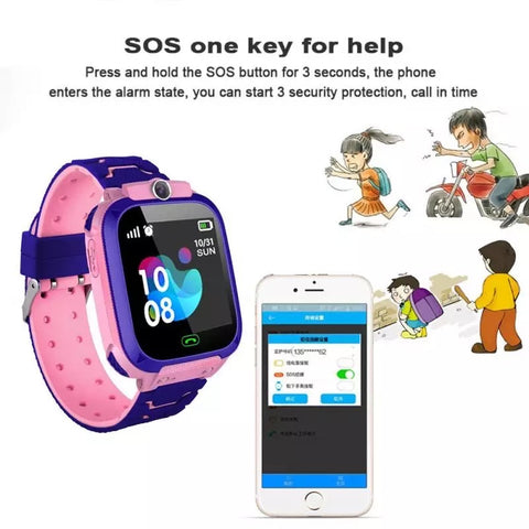 Image of Smartwatch Copii S567, SIM, Monitorizare Locatie, Intercom, SOS, Camera, Microfon roz