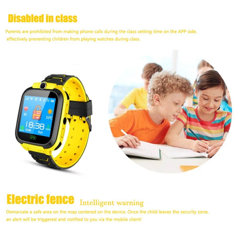 Image of Smartwatch Copii S569, SIM, Monitorizare Locatie, Intercom, SOS, Camera, Microfon galben