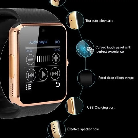 Image of Smartwatch S570 Ecran Touchscreen, Bluetooth, SIM Notificari, Camera, Monitorizare somn, negru