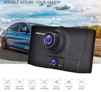 "4"" LCD 1080P Car DVR 3 Lens Camera Recorder Dash Cams DVR Camcorder (Front, Rear, Cabin)"