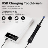 Mornwell Electric Toothbrush USB Fast Charging 3 Modes Rotary Toothbrush