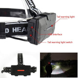 4 Cree LED and Twin COB Head Lamp - Rechargeable
