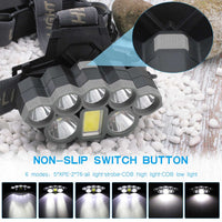8 LED and COB Head Lamp - Rechargeable